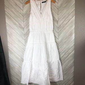 Ralph Lauren White Cotton Maxi Dress Size 4